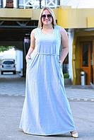 Женское платье летнее длинное Сонька БАТАЛ