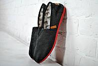 Эспадрильи, мокасины Fashion черные с красной подошвой 40