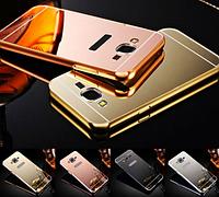 Металлический зеркальный чехол бампер Mirror для Samsung Galaxy A5 A500 (4 цвета)