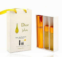 Мини парфюмерия Christian Dior J`adore (Кристиан Диор Жадор) с феромонами + 2 запаски, 3x15 мл.