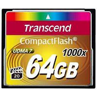 Карта памяти Transcend 64 GB 1000X CompactFlash Card (TS64GCF1000)