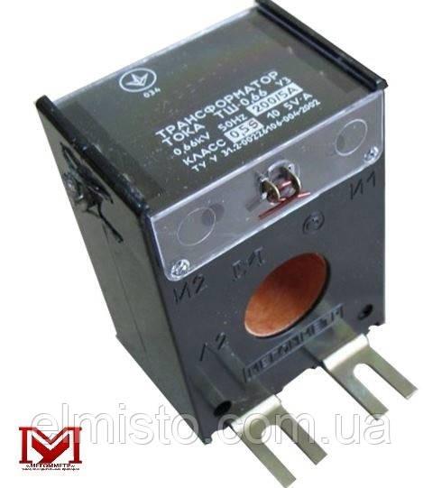 Трансформатор тока ТШ-0,66 300/5 кл.т. 0,5 (без шины)
