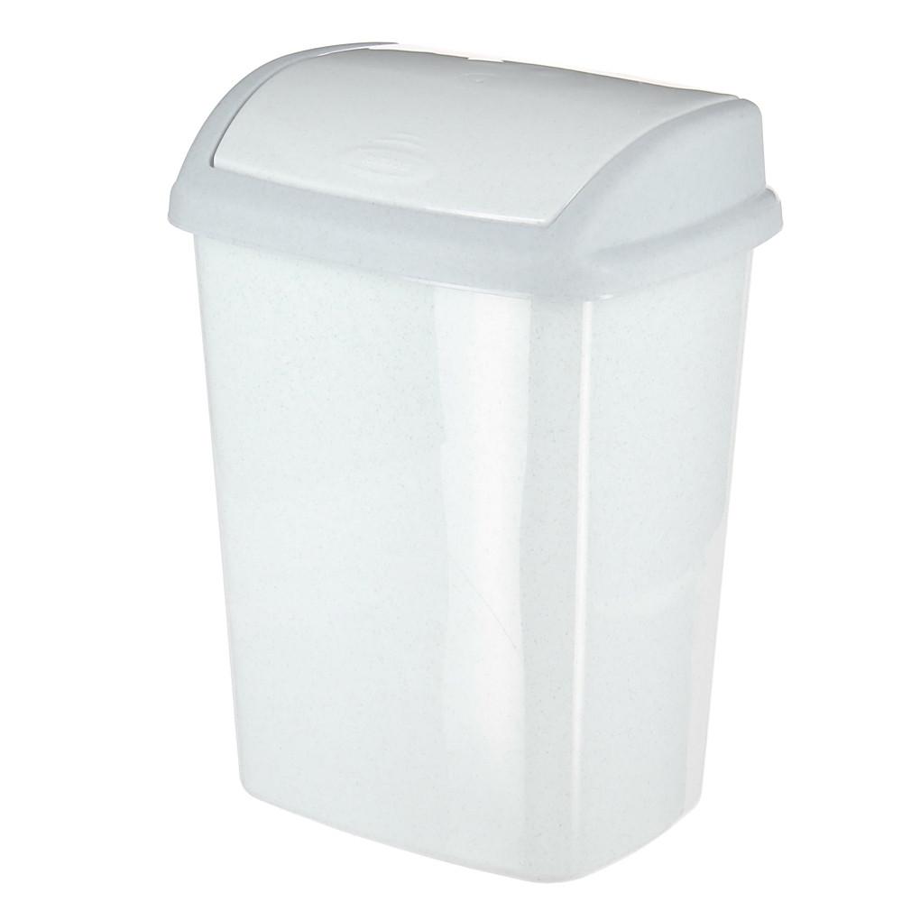 Ведро для мусора с крышкой Curver Dominik гранитное 10 л.