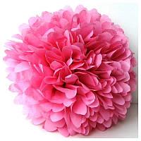 Купить бумажный помпон для оформления, 35 см. пудрово-розовый