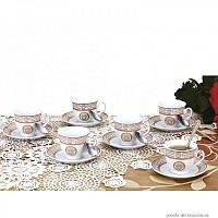 Сервиз чайный ZILLINGER ZL-757G ( Чашки, блюдца, ложки)