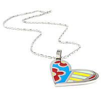 Кулон Сердце с разноцветными вставками Арт. PD051SL, фото 2