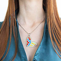 Кулон Сердце с разноцветными вставками Арт. PD051SL, фото 3