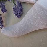 """Носочки для девочек капроновые ажурные. """"Дарьюшка"""". Белые ажурные капроновые носки для школы, фото 2"""