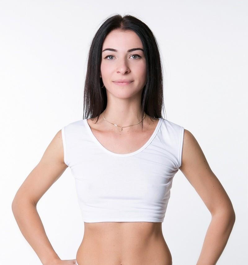 Женский спортивный топ из хлопка