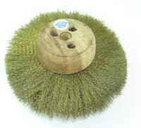 Щетка на деревянном диске латунная