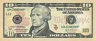 10 долларов. Пачка сувенирных денег