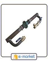 Байпас, диаметр 40 мм, латунный клапан, короткий.