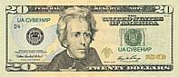 20 долларов. Пачка сувенирных денег