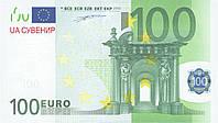 100 Евро. Пачка сувенирных денег, фото 1