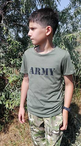 Футболка детская ARMY цвет хаки, фото 2