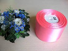 Лента атласная. Ширина 5 см.Цвет насыщенно розовый