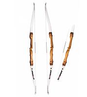 Традиционный рекурсивный лук Jandao 66/24 White, плечи из дерева, дакроновая тетива, инструкция в комплекте.