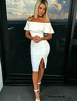 Платье коктейльное белое Ботичелли ян