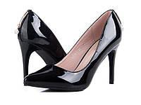 Туфли женские лаковые черные YJ75-5 Большой выбор обуви на http://saxo.com.ua