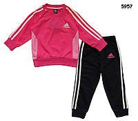 Спортивный костюм Adidas для девочки. Маломерит. 130 см , фото 1