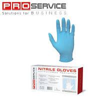 Перчатки нитриловые синиго цвета 50шт/уп. размер М и L, ТМ ProService
