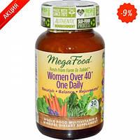 Мультивитамины одна таблетка в день для женщин после 40 MegaFood 30 шт