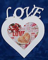 Фоторамка 15х21 сердце Love
