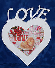 Фоторамка 15х21 серце Love