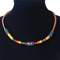 Украшение на шею Африка текстиль Коричневый Ассорти