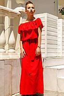 """Красное длинное платье """"Венера """""""