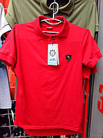 Футболка поло С-258 красный