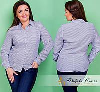 Классическая женская рубашка с принтом, батал
