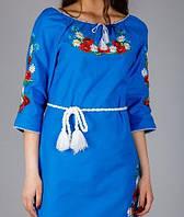 Платье из льна в украинском стиле