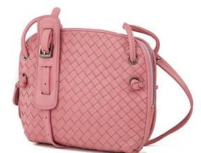 Женская кожаная сумка Bottega Veneta; BVA-8083P, розовый Копия