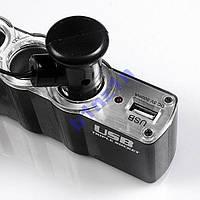 Тройник Разветвитель прикуривателя 12/24V 3 + USB!Акция