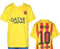 Детская (5-10 лет) футбольная форма ''Месси'' - ФК''Барселона'' (2015/2016) -  желто-красная, гостевая