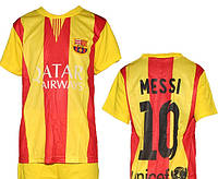 Детская (5-10 лет) футбольная форма ''Месси'' - ФК''Барселона'' (2014/2015) -  желто-красная, резервная
