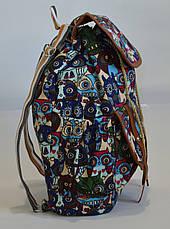 Рюкзак для прогулок хлопковый с совами, фото 3