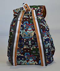 Рюкзак для прогулок хлопковый с совами, фото 2