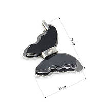 Кулон Бабочка с черными крыльями Арт. PD024SL, фото 3