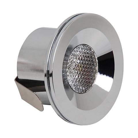 Світлодіодний світильник Horoz (HL666L) 3W 4200K круг хром мат. Код.57780