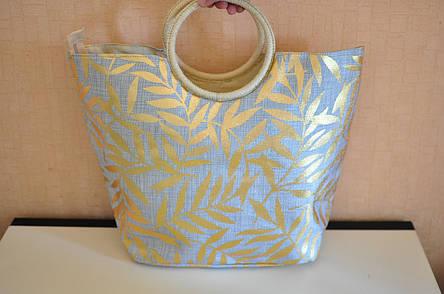 Сумка женская тряпичьная Листья, фото 2