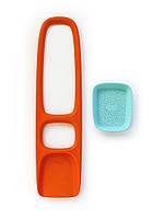 Quut - Лопата для песка Scoppi с ситом, оранжевая