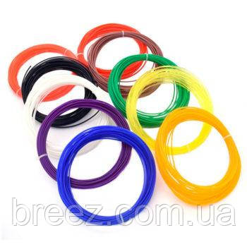 Набор ABS пластика 10 цветов по 10 м для 3d ручки