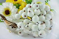 Ягоды калины в сахаре белого цвета. Пучок 5 проволочек (10 ягод).