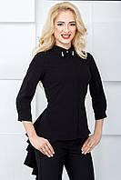 Женская блуза с рукавом 3/4 2070 черный