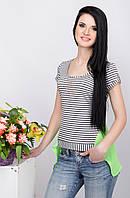 Женская блузка в полоску 85 серый