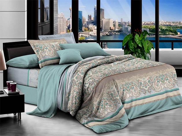 Двуспальный комплект постельного белья евро 200*220 хлопок  (7654) TM KRISPOL Украина, фото 2