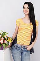 Женская блузка в полоску 85 оранжевый