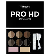 Палетка для бровей Freedom Makeup Hd Brow Palette Medium Dark
